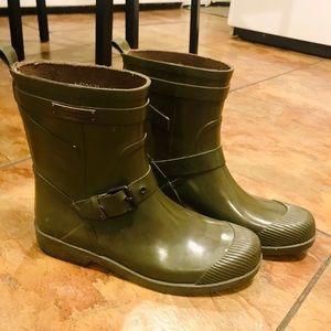 Olive Green Coach Rainboots